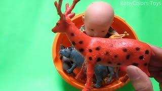Learn Animals for Children Learn Farm Animals and Wild Animals Video Toys for Kids