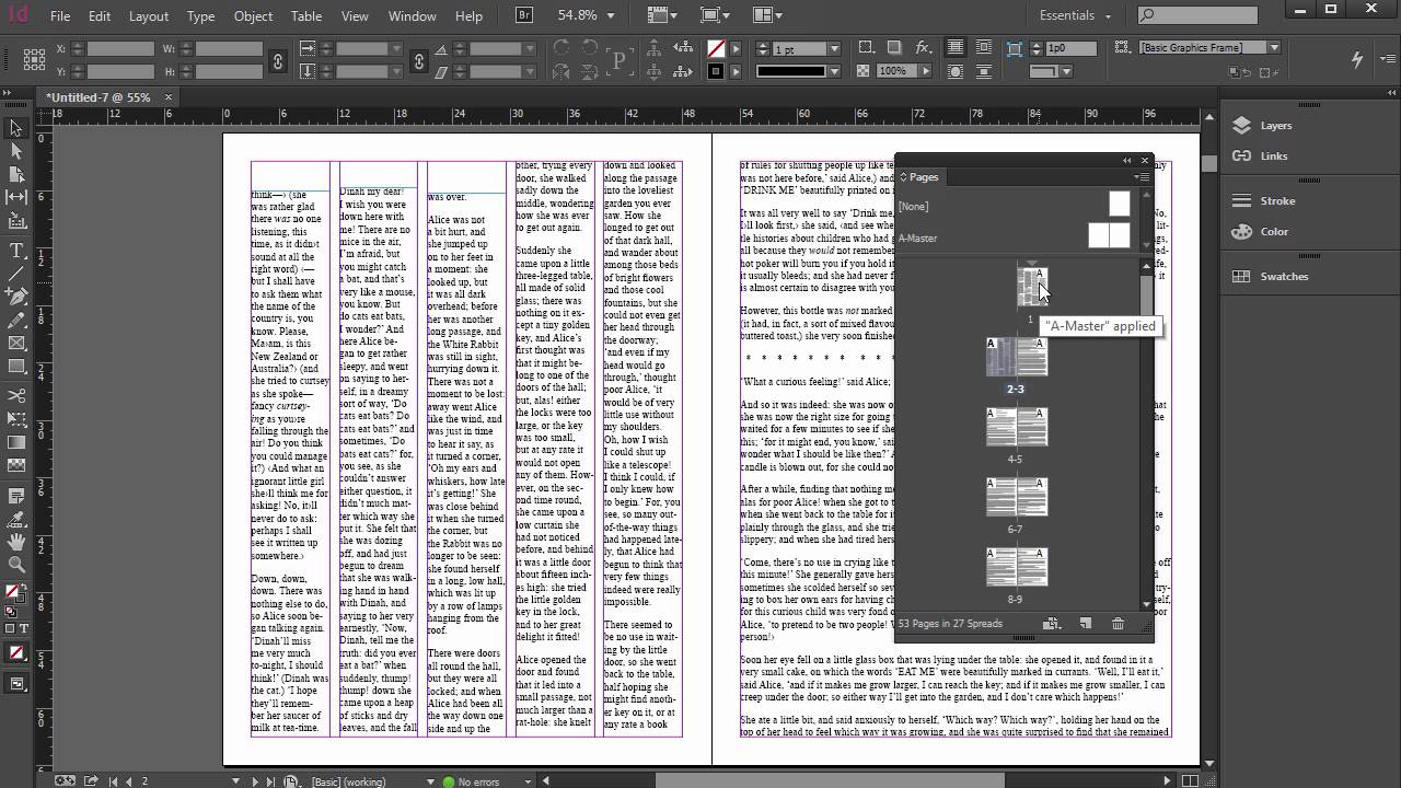 Placing and Flowing Text in InDesign Tutorial