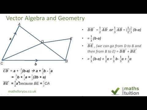 iGCSE Maths  Vector algebra & geometry  AS level maths revision