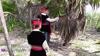 treasure hunt surprises in mexico disney jake pirate fun by hobbykidstv