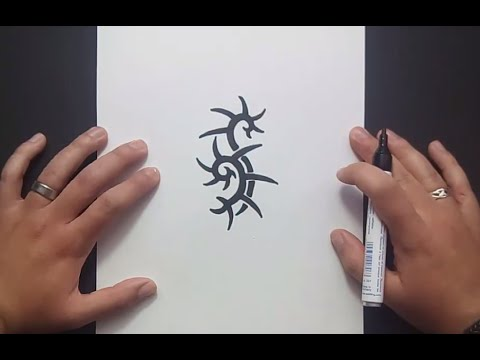 Como dibujar un tribal paso a paso 143 | How to draw one tribal 143
