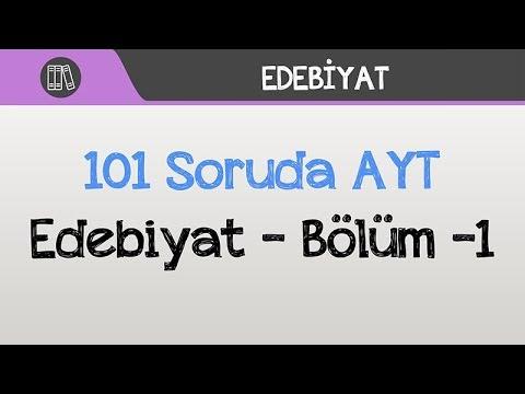 101 Soruda AYT - Edebiyat Bölüm -1
