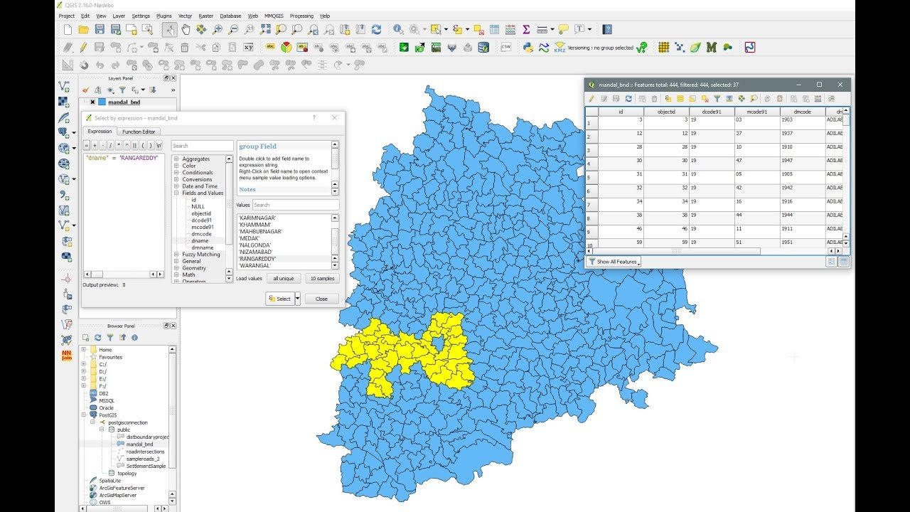 QGIS - Select By Expression - Select By Attribute