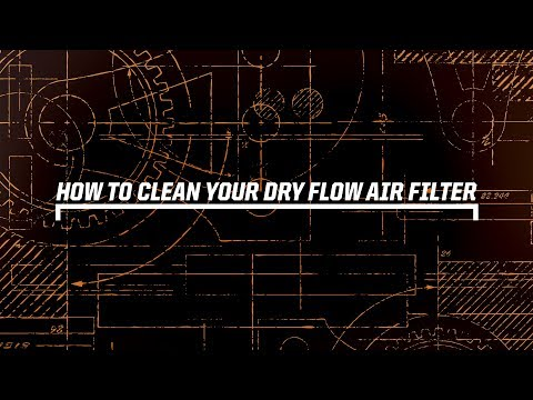 How to clean a Dryflow Air Filter (synthetic filter)