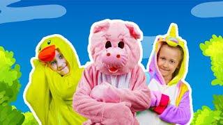 A Ram Sam Sam Aram Zam Zam Song for Kids with Anuta's Family | Anuta Kids Channel