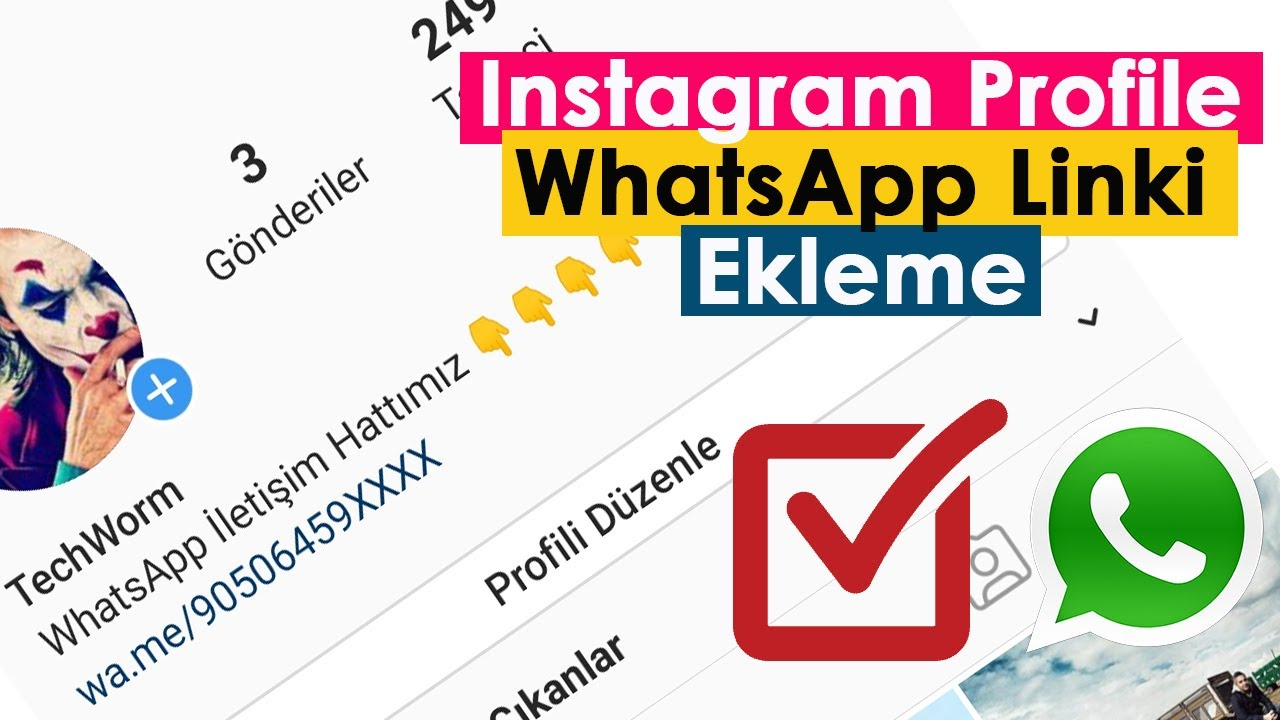 Instagram Profile WhatsApp Linki Ekleme | Çok Basit!!!