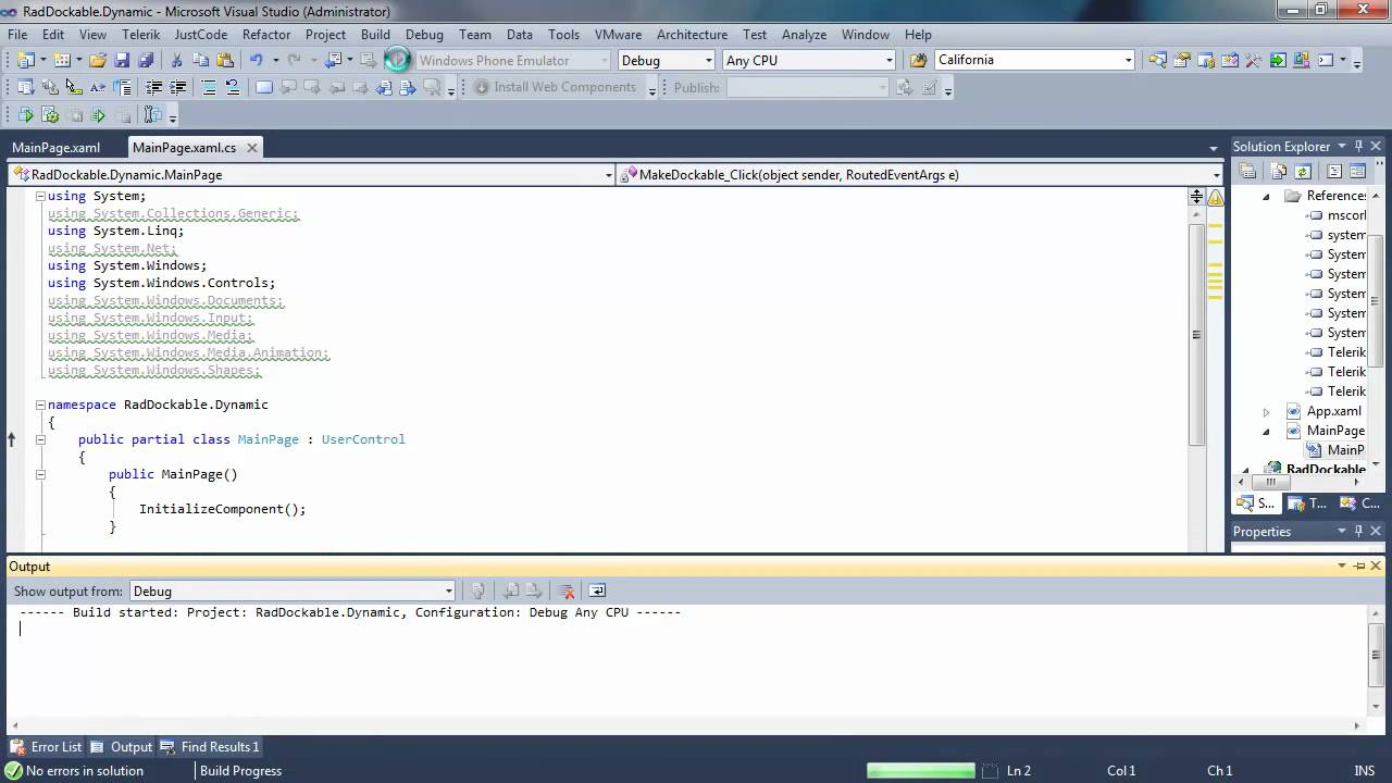 Docking - Part 3: Dynamic Docking (Silverlight & WPF)