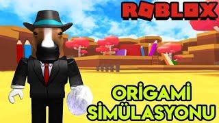 📄 Origami Simülasyonu 📄   Paper Ball Simulator   Roblox Türkçe