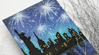 Happy New Year - How to Paint a Scene with Fireworks