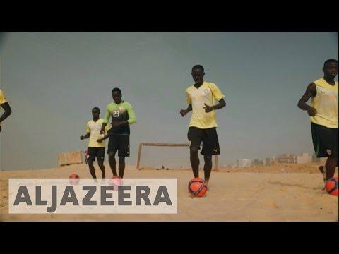 Senegal players prepare for FIFA beach soccer world cup