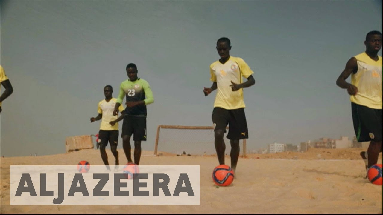 Senegal players prepare for FIFA beach soccer world cup
