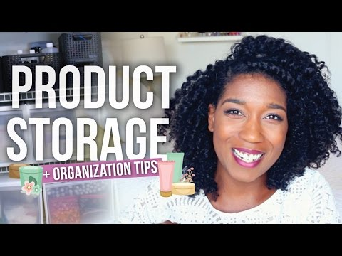 My Hair Product Tools Storage + Organization Tips ...
