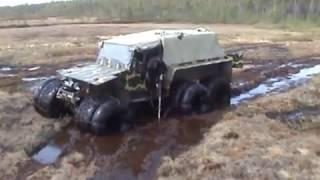 Хищник 6х6 (болото, вода).wmv(Производство 4-х и 6-ти колесных вездеходов