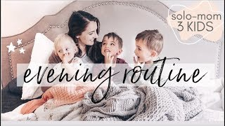 Our Cozy Evening Routine🌛✨ | Mom Of Three | Solo-Parenting Night Time Routine