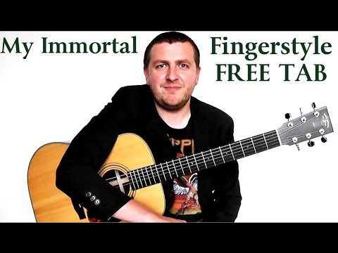 My Immortal - Fingerstyle Guitar Tutorial - Evanescence - Part 1 - Drue James