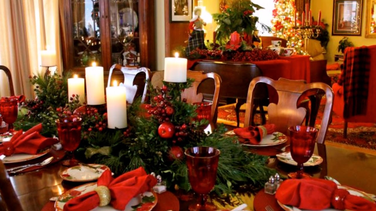 Beautiful Christmas Dinner Table Youtube