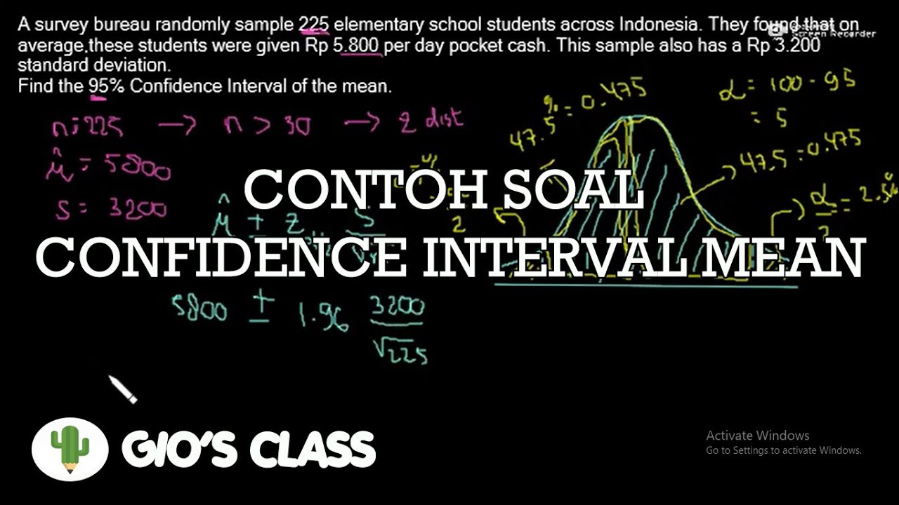 Cara Mengerjakan Soal Confidence Interval - YouTube