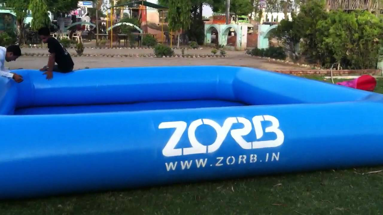 We Are India 39 S Inflatable Swimming Pool Zorbing Zorb Water Ball India Supplier Youtube