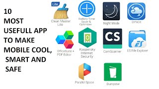 10 MOST USEFULL APPS THAT MAKE YOUR ANDRIOD PHONE COOL ,SMART AND SAFE