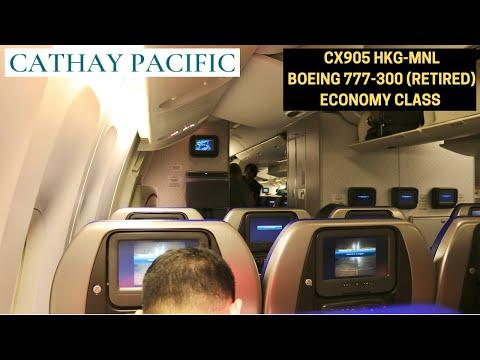 Cathay Pacific CX905 Hong Kong HKG ✈ Manila MNL (BOEING 777-300 - Economy Class)