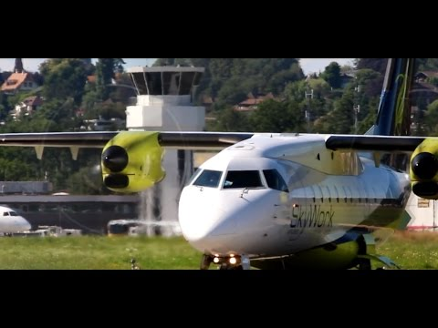 ATC | Skywork Airlines Dornier 328-110 Close up Departure from Bern Belp | TWO Cameras