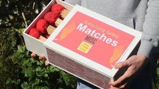 GIANT MATCHSTICK BOX!
