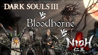Dark Souls 3 vs Bloodborne vs Nioh - PS4 Comparison