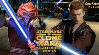 Clone Wars Lightsaber Duels Plo Koon vs Anakin Skywalker