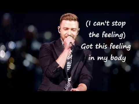 Justin Timberlake 'Cant Stop The Feeling' Lyrics, MP3,and Picture