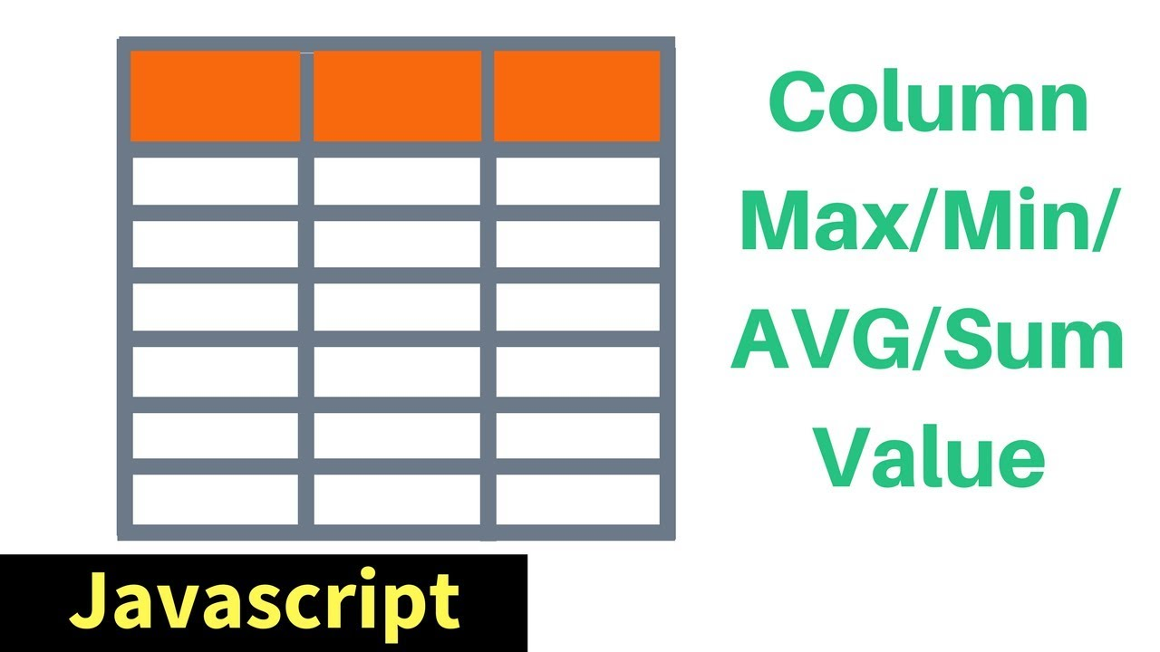 Javascript html table column max min sum avg values in js javascript html table column max min sum avg values in js with source code 1bestcsharp gamestrikefo Images