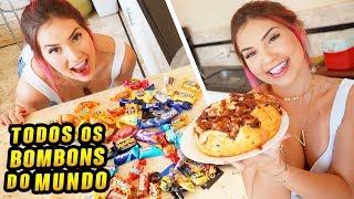 FIZ UM BOLO COM TODOS OS BOMBONS DO MUNDO!!!!