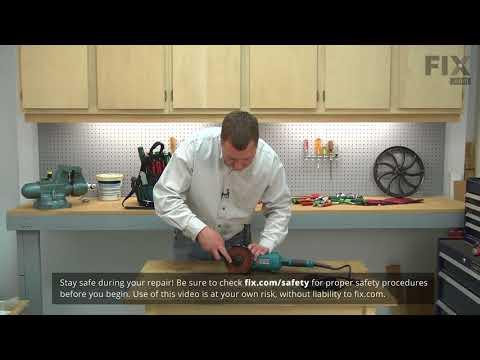 Makita Grinder Repair - How To Replace The Lock Nut