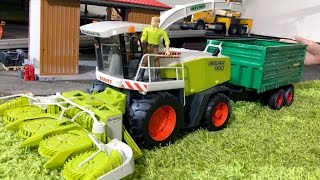 BRUDER TRACTORS for Children JACK's FARM WORLD all machines on Duty CLAAS JAGUAR! PART 7