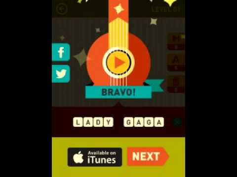 Icon Pop Songs game answers level 1