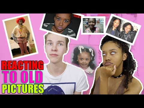REACTING TO OLD PHOTOS! (ft.TREVOR MORAN, 666CHAINZ)