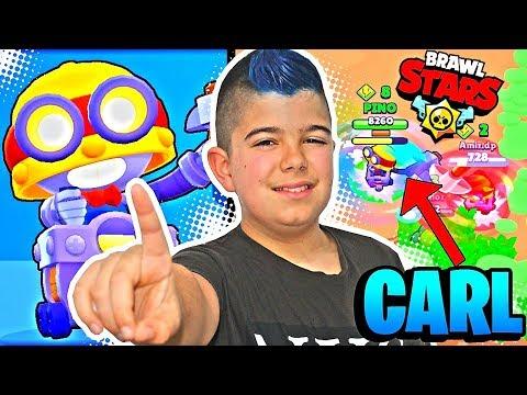 CARL ES UNA BESTIA EN BRAWL STARS!!! JUGANDO CON EL NUEVO BRAWLER