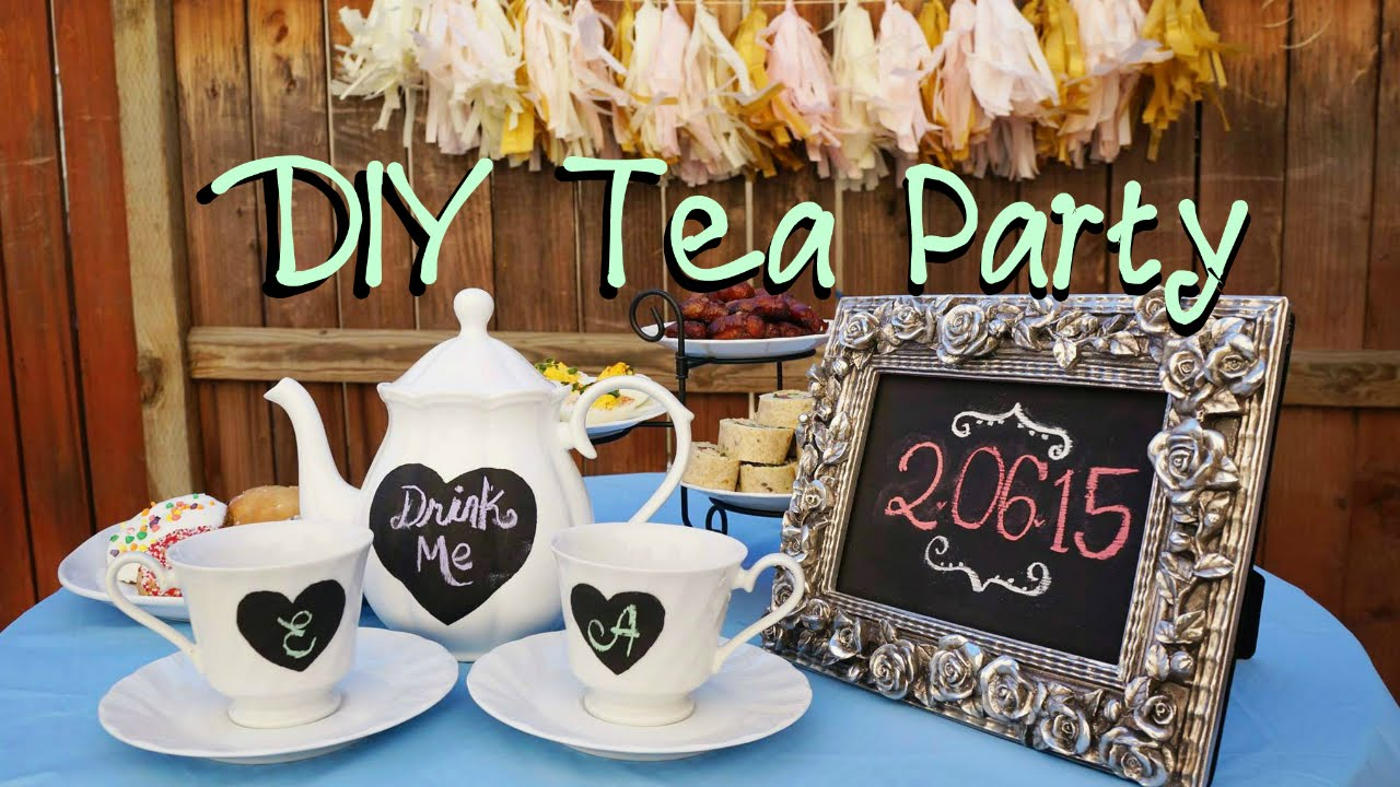 DIY Tea Party Decor ♥YouTube