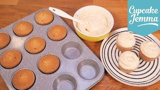 Salted Caramel Cupcake Sponge Recipe | Cupcake Jemma