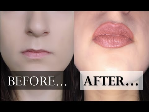 ♡ HOW TO OVERLINE SMALL LIPS // No Lip Fillers, Naturally And For Tiny Lips ♡