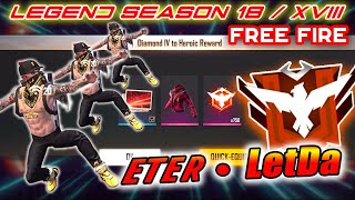 ROAD TO GRAND MASTER 7 JAM NON STOP !!! SEASON 18 FREE FIRE - LETDA HYPER