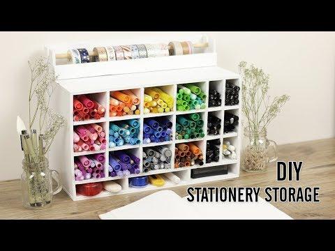 DIY Stationery Organizer   Bullet Journaling Supplies