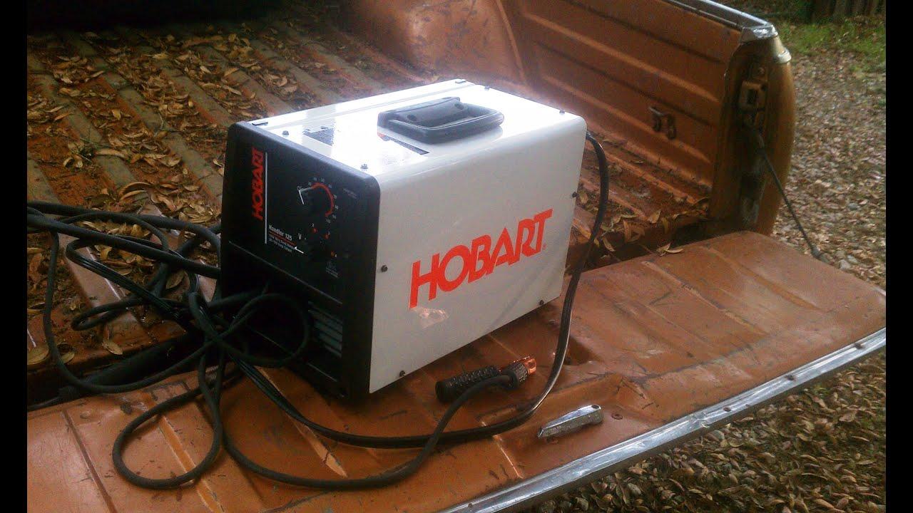 great hobart 125 mig amp flux welder for auto amp home youtube