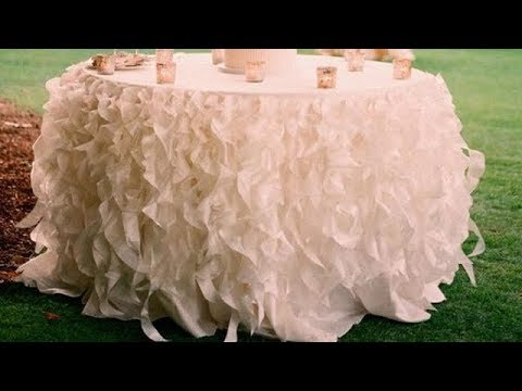 Diy Ruffled Strand Table Skirt Table Cloth Table Lines Decoration Tutorial Youtube