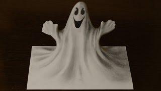 Как нарисовать 3D рисунок ПРИВИДЕНИЕ   3D Ghost 3(Попробуй повторить сам этот 3D рисунок простым карандашом. ПРОСТЫЕ 3D рисунки - http://www.youtube.com/playlist?list=PL9RJD2tRjH9UJ0pv..., 2016-02-22T19:13:23.000Z)
