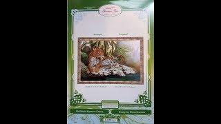 """Вышивка бисером: Обзор набора """"Леопард"""" от Золотое Руно"""