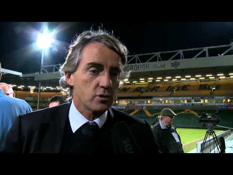 MANCINI on Nasri red card: Norwich 3-4 City post match reaction