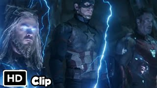 Thor Tony Steve Vs Thanos Hindi  Avengers Endgame Hindi HD 4K Clip Thumb