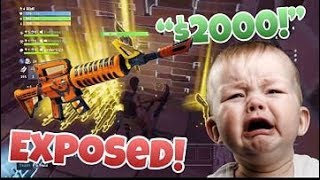 Scammer gets Scammed and Offers 2000 Dollars For Guns Back-Fortnite Save The World