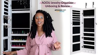 Hey Fam! Today I am reviewing a LARGE Mirrored Jewelry Organizer from Amazon Prime! This jewelry armoire is from AOOU on Amazon and has free two day ...