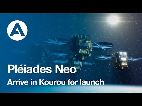 Pléiades Neo satellites arrive in Kourou for launch